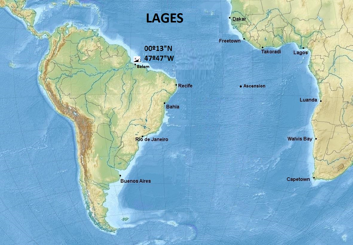 LAGES SHIPS SUNK BRAZIL Articles Sixtant War II In The - Lages map