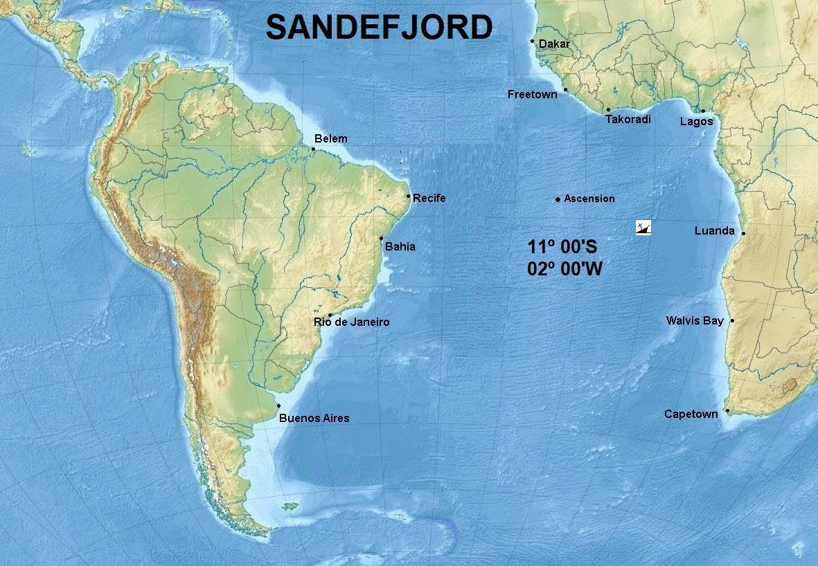 27SANDEFJORD NORWEGIAN SHIPS CARGO LOST SHIPS SUNK NORWAY